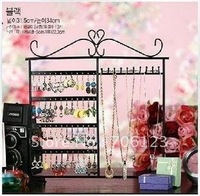 multi-functional jewelry display shelves mix color New Necklace shelf iron earrings display 5PCS