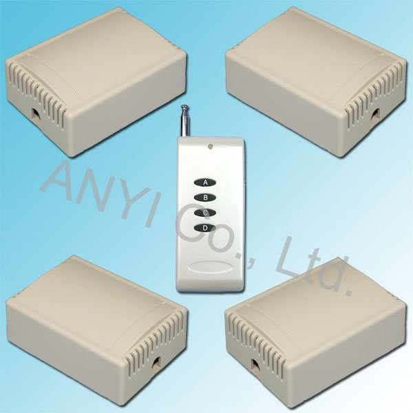 Wholesale 30A High Power 1CH AC220V 500M RF Wireless Remote Control Switch System 3 Control Modes+Free shipping(China (Mainland))