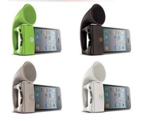 50pcs/lot The Best Price Wholesale Horn Stand For Iphone 4 Silicone Horn Stand, Bone Horn stand