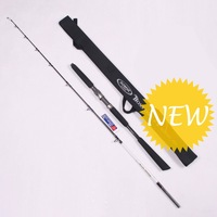 BOSS ONE BOJ592C/BOJ592S,PE5, FUJI Guide rings Reel seat,Shallow, Spinning Fishing Boat Rod 1.75m