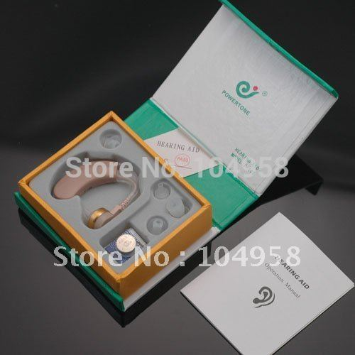New Tone Hearing Aids Aid Behind The Ear Sound Amplifier Sound Adjustable Kit Free Shipping & Drop Shipping(China (Mainland))
