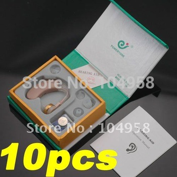 New Tone Hearing Aids Aid Behind The Ear Sound Amplifier Sound Adjustable Kit Free Express 10pcs/lot