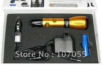 Wholesale/ Retail,led torch,1set K96(Golden) 200 lumen flashlight,Q5 CREE flashlight,rechargeable led flashlight
