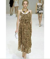 2011 European Wind Bohemian Ethnic dress leopard dress sling / beach dress