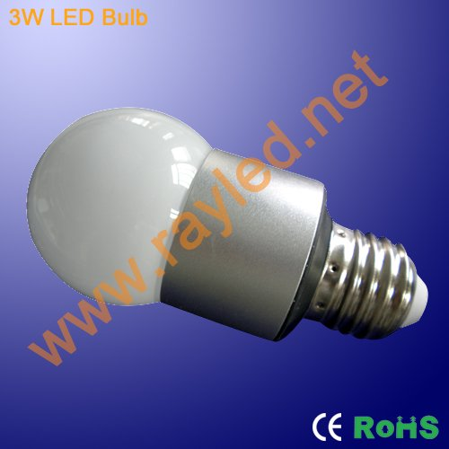 wholesale,50pcs/lot,3w power led bulb light,E27,white,hi-power led,CE&RoHS(China (Mainland))