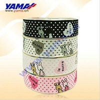 "5/8"" Printed Grosgrain Ribbon  Hare Ribbon   Printed Hair Ribbon  negotiable price"