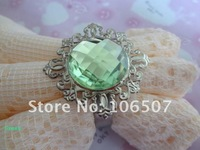 100% quanlity assurances 50pcs Light green Gem Napkin Rings banquet Wedding Favour Party table decor 2011 HOT-FREE SHIPPING