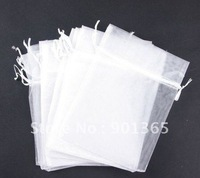 "3.5x5"" White pouch Organza Gift Bags Wedding favor 200pcs/lot"