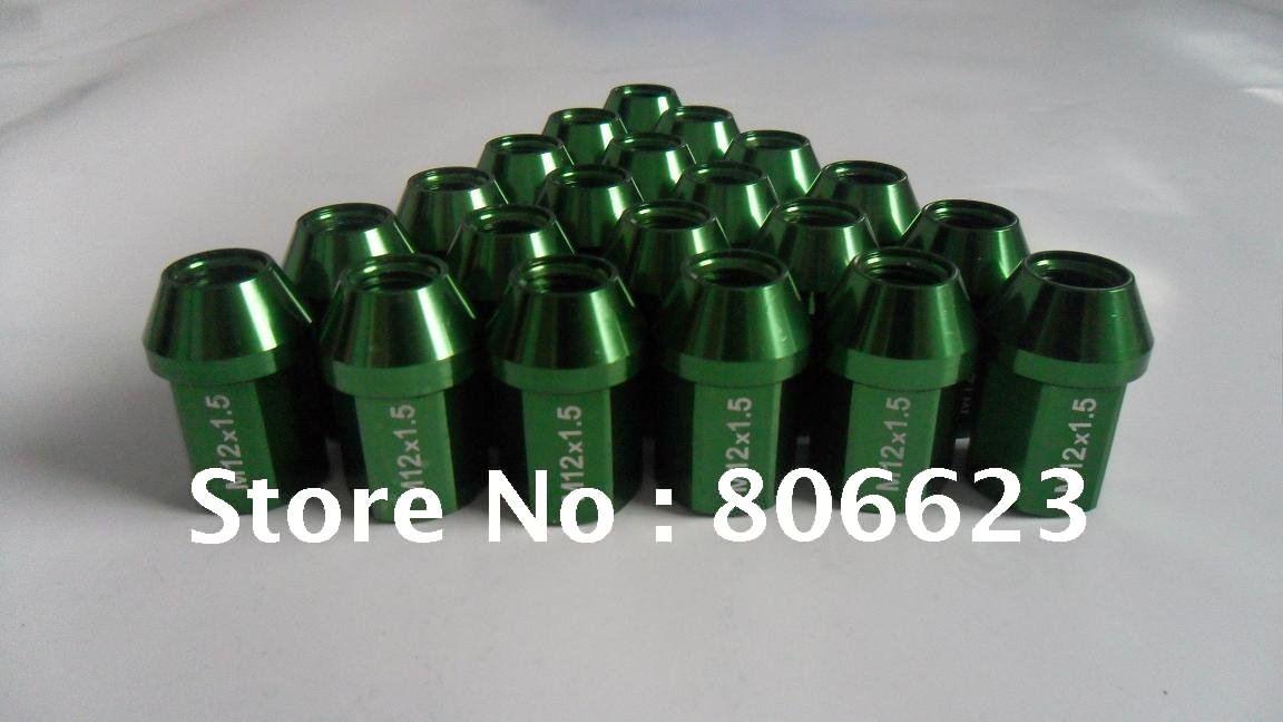 NEW 20 GREEN 12x1.5 LUG NUTS MITSUBISHI ECLIPSE(China (Mainland))