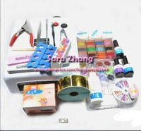 Free Shipping 49pcs/set uv gel Nail product manicure pedicure kit