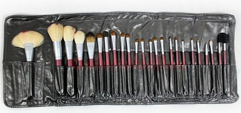 New 24 pc Pro Deluxe Purple handle Make up Brush Set