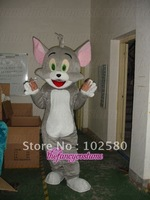 gray tom cat cartoon  mascot costume cosplay  free S/H