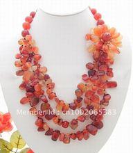 Beautiful!Natural Multi Shape Carnelian Necklace(China (Mainland))