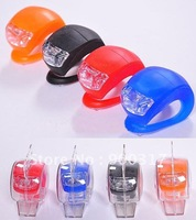 wholesale--bicycle light silicon light bicycle warning front light 500pcs/lot+ free shipping