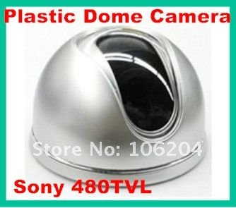 Cheapest mini Plastic Dome Camera Surveillance equipment CCTV Camera system 19 1/3'' Color CCD 480TVL(China (Mainland))
