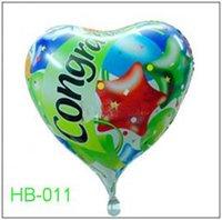 "Free Shipping, HB-011 Heart Shape -18"" Happy Birthday/Party Foil Balloon, 20pcs/lot"
