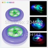 Free shipping 2011+Dream frisbee + flash lights UFO + wheel rotation flywheel type lights frisbee