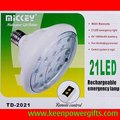 Rechargeable Emergency LED Light Lamp 3W E27 LED Light with Remote Control, Free Shipping
