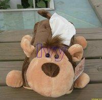 NICI Brown Monkey Tissue Box Case Holder Fit for Car