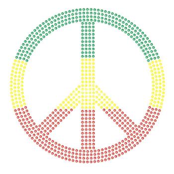 Wholesale 25pcs/lot Korean Rhinestone Appliques Peace Design Free Shipping