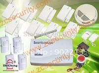 wireless GSM alarm tri-band 900/1800/1900 MHz / 8 door sensor / 4PIR/one wireless smok alarm