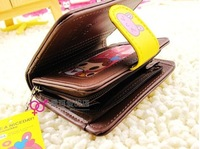 Free shipping,10pcs/lot,leather,gorgeous quality,lovely,girls popular,purse,wallet