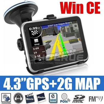 "4.3"" GPS + 2GB/4GB/8GB Map"