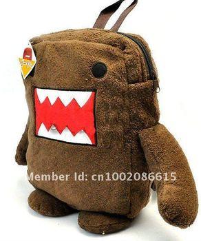Wholesale 10pcs/lot DOMO kun plush toys plush cartoon DOMO packback baby kid backpack Plush toy Bag free shipping