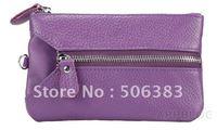 wholesale real leather wallets purses key case 6 colors 15pcs/lot