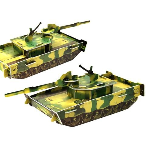 Free shipping,Large 3D puzzle model - main battle tank