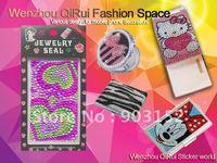 Free shipping,wholesale,hot sale,shiny under sun,rhinestone sticker for mobile phone