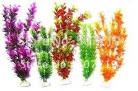 5pcs30/40 fish tank plastic aquarium artificial plant a free shipping