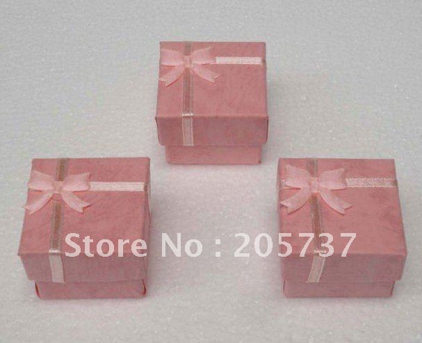 Wholesale 24pcs jewellery finger ring gift case box 4X4X3CM,Mixed-color(China (Mainland))