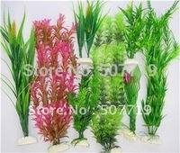 8pcs 40/20 cm fish tank aquarium artificial plant free shipping