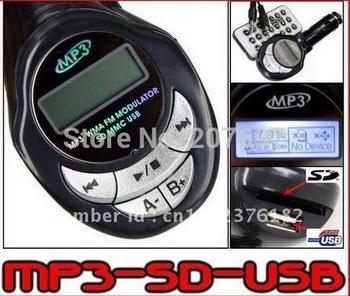 Car MP3 Player FM Transmitter USB/SD/MMC car mp3 player car fm modulator Freeshipping