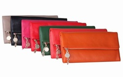 First layer COW LEATHER Korea fashion women's long wallets,foldable clutch wallet bag purse,with big compacity,TW022(China (Mainland))
