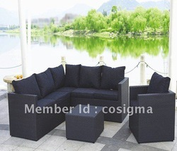 Elegant rattan garden sofa set(China (Mainland))