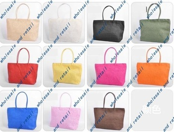 free shipping women bags handbags Shoulders totes flax bag wholesale 20pcs