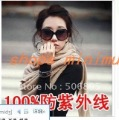 Manufacturers wholesale 100% real uv UV400 sunglasses large box the sun glasses ms bask in dark glasses