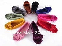 Women's Leather Tassel Oxford Assorted Colors Flat Heel Slipper Shoes Size US 5-9 Special Offer Hot Sale+FREE SHIPPING
