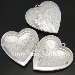 Free Shipping! Charm Silver Tone Picture Photo Frame Love Heart Locket Pendants for Necklaces Jewelry Wholesale(China (Mainland))