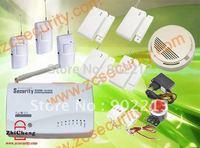 Home security GSM alarm system with auto dialer and SMS alarm +3 PIR sensor +4 door sensor+1 smoke fire alarm free shipping
