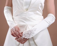 Lace bridal gloves silky bridal gloves in summer new style for wedding dress