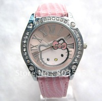100pcs/lot EMS Free Shipping Hot Hello Kitty Watch Fashion Cute Lovely Girl Ladies Wrist Watch Children's watch