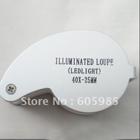 40x Jewelers Loupe Magnifying glass + LED Light FAST POST HIGH QUALITY