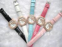 20PCS/Lot 2012 Newest watch Fashion watch HelloKitty Watch for Ladies Girl Wrist watch quartz watch diamond watch Wrist watches