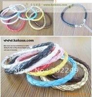Wholesale! Free shipping fashion mixed PU bracelet,  Link & Chain imitate leather bracelet belt. 10pcs/lot