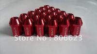 NEW 16 LIGHT RED 12x1.5 LUG NUTS MAZDA 626 RX-7 4-LUG