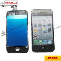 DHL free shipping +LCD Screen Display + LCD Touch Screen Digitizer Complete Assembly for iPhone 4