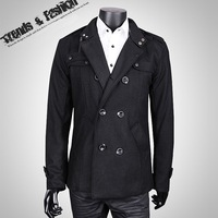 Мужской тренч fashion Men's trench coat outerwear overcoat slim cotton outdoor jacket man business design coats collection coat